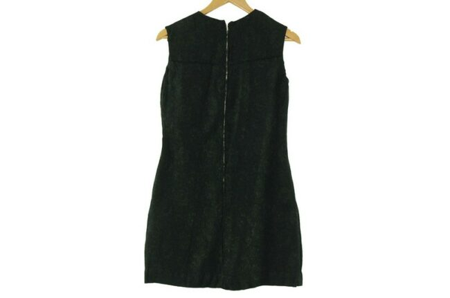 Back of 1960s Black Shift Dress with Bow