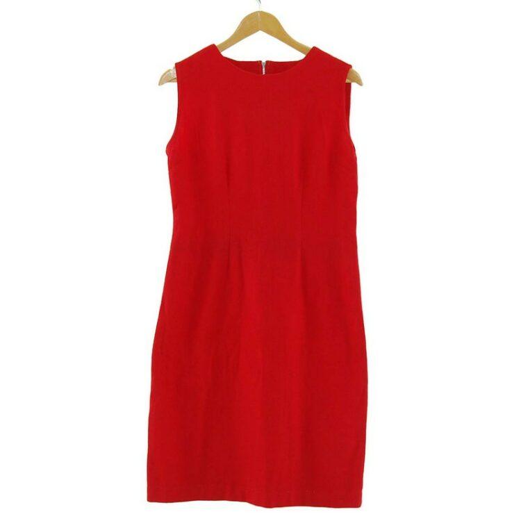 1960s Red Wool Shift Dress