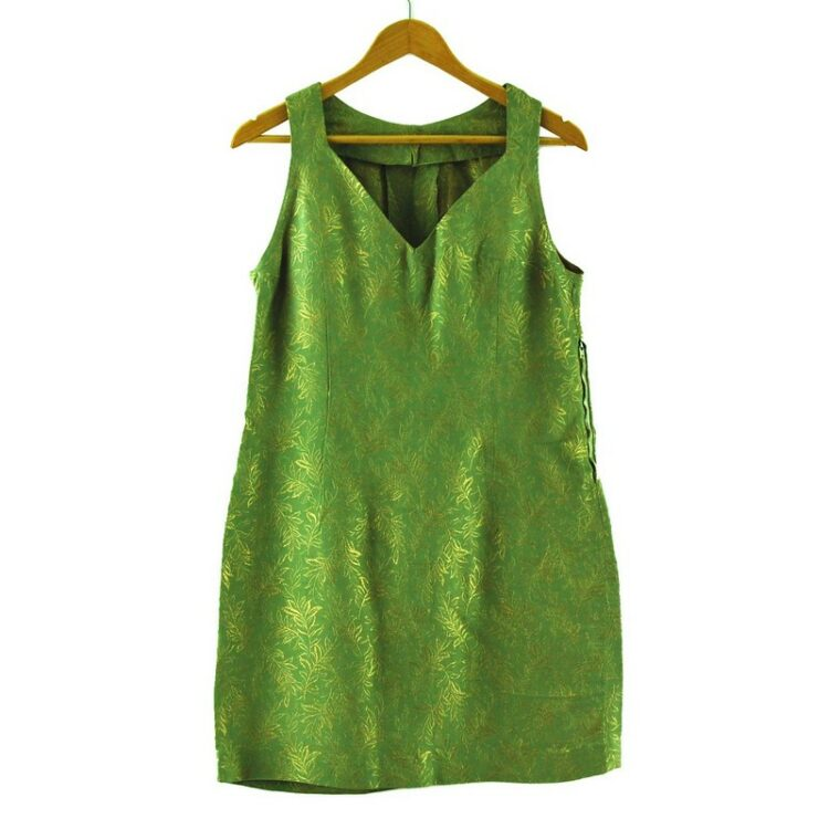 1960s Green and Gold Dress