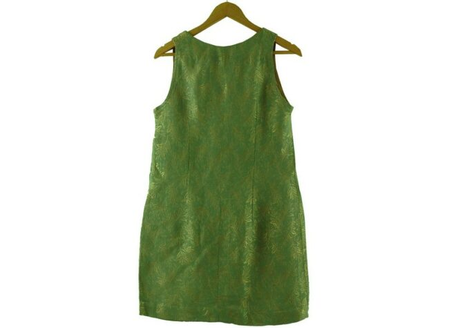 Back of 1960s Green and Gold Dress