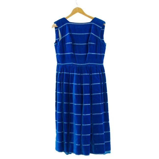 1960s Ursula Roleff Blue Velvet Dress.