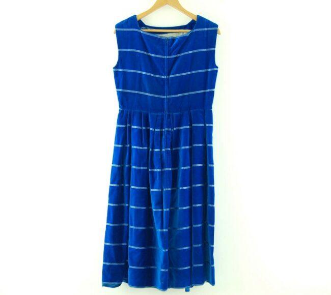 Back of 1960s Ursula Roleff Blue Velvet Dress