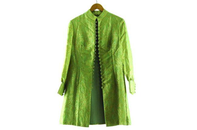 1960s Metallic Green Raj Dress