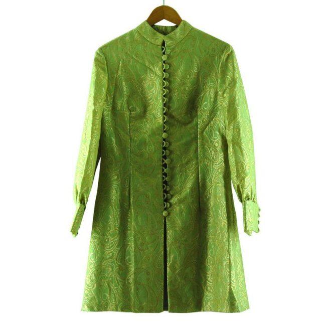 1960s Metallic Green Raj Coat