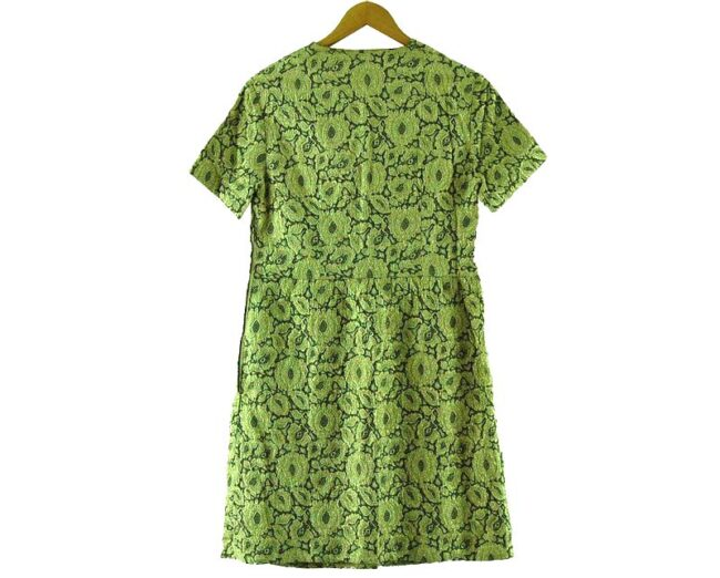 Back of 1960s Metallic Wrap Over Dress