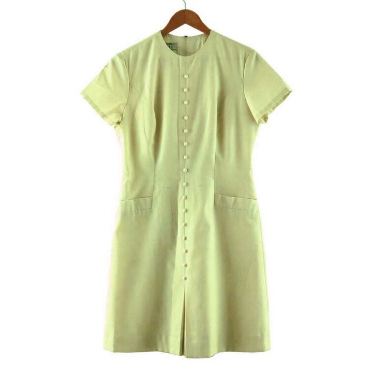 Kammgarn 1960s Cream Shift Dress