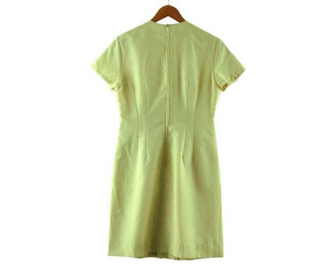 Back of Kammgarn 1960s Cream Shift Dress