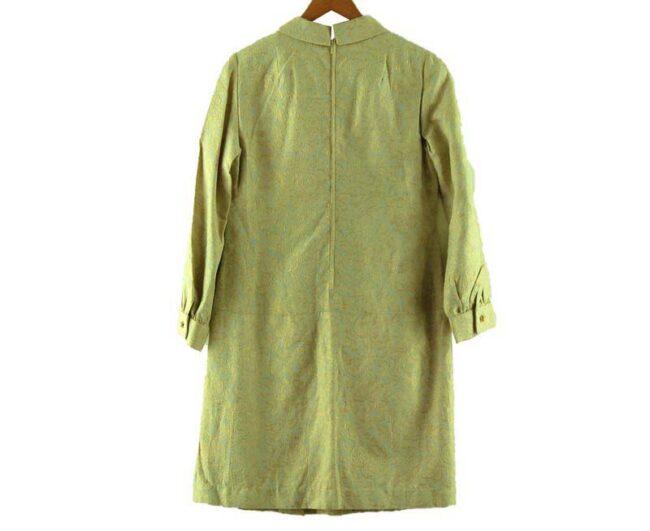 Back of 1960s Drop Waist Pleated Shift Dress