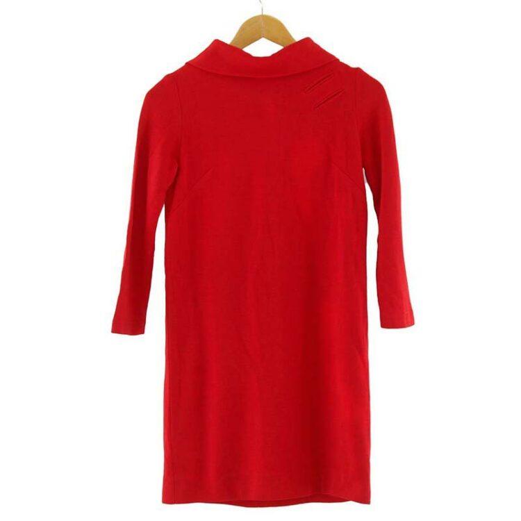 1960s Waldman California Red Shift Dress