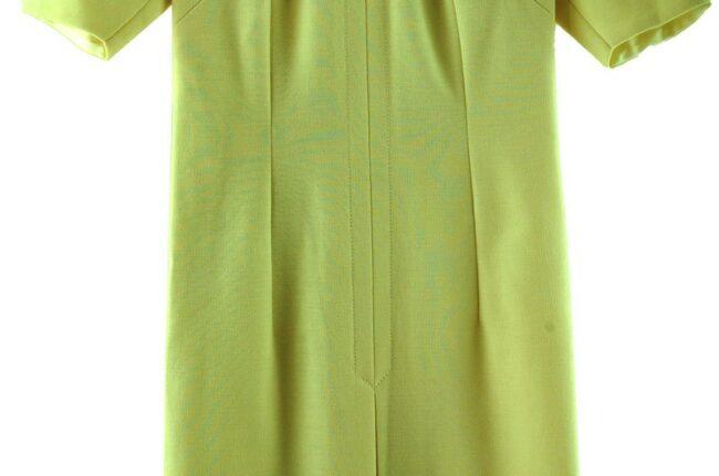 Close up of 1960s Cream Tunic Dress