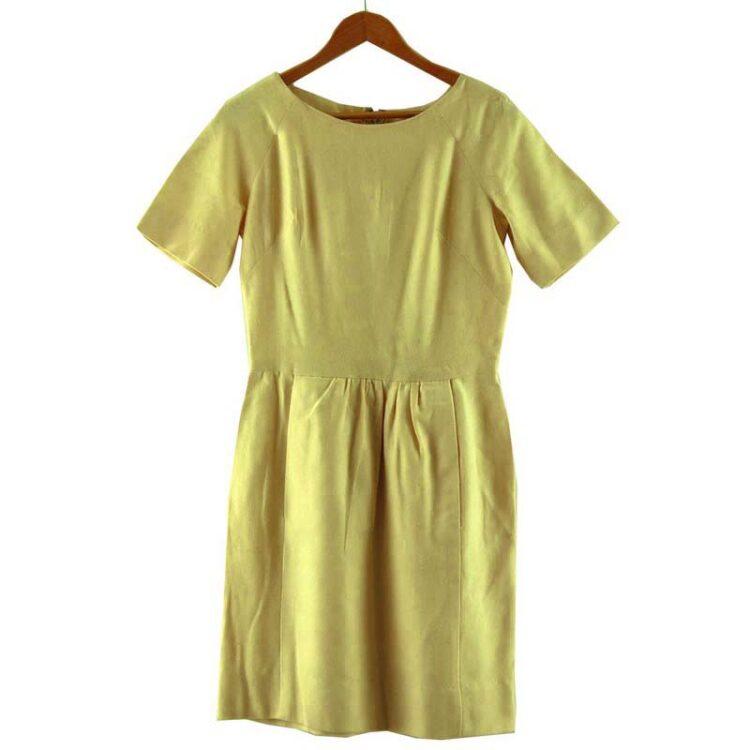 1960s Cream Wool Boat Neck Dress