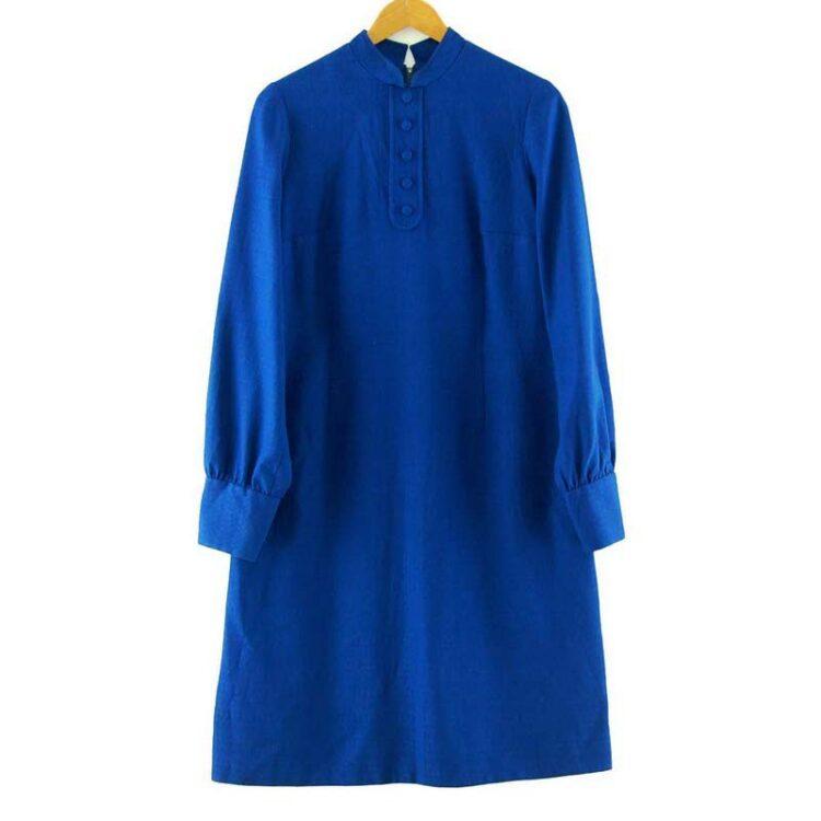 1960s Blue Tunic Dress