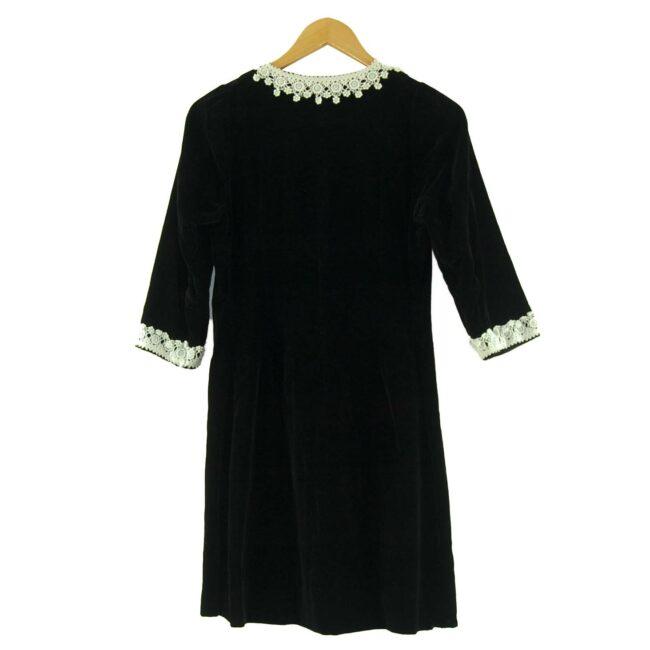 Back of 1960s Black Velvet Dress