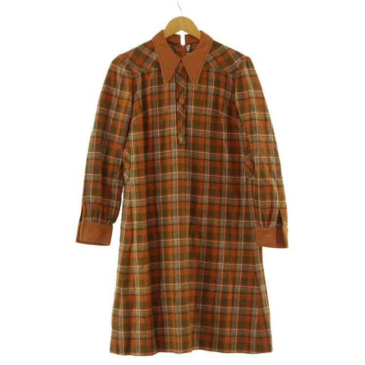 1960s Plaid Smock Dress