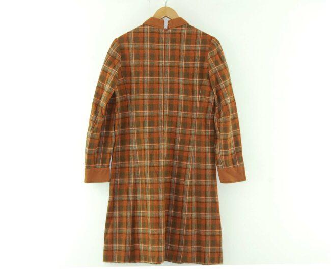 Back of 1960s Plaid Smock Dress