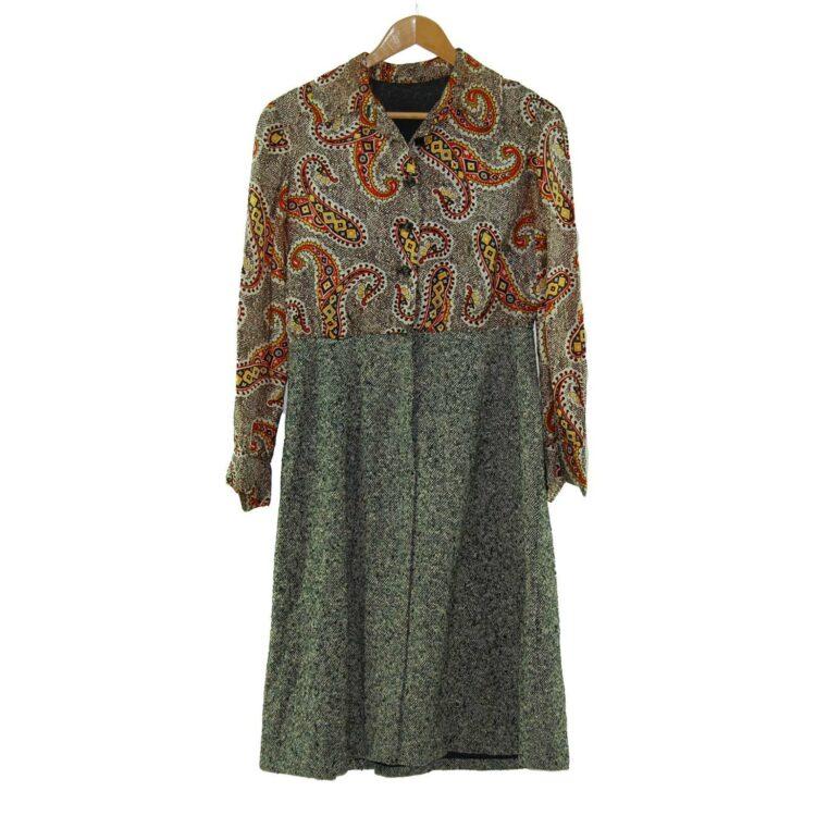 1960s Paisley Shirt Dress