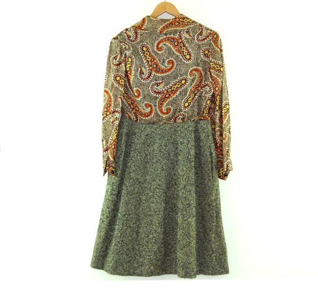 Back of 1960s Paisley Shirt-Dress