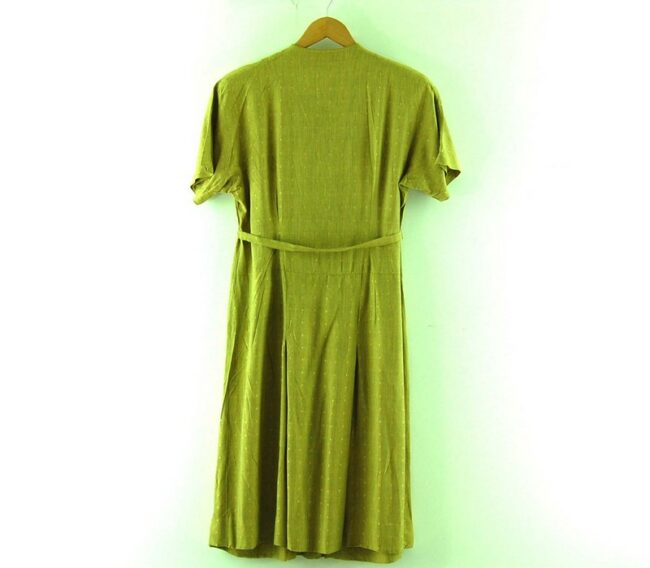 Back of 1960s Wrap Over Dress