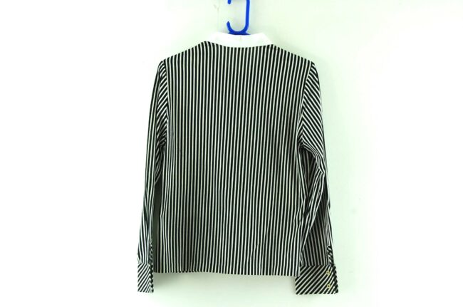 Back of 70s Black and White Striped Blouse