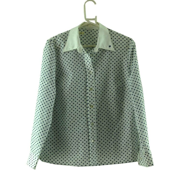 70s Pointed Collar Blouse