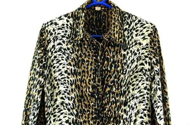Close up of Leopard Print Blouse