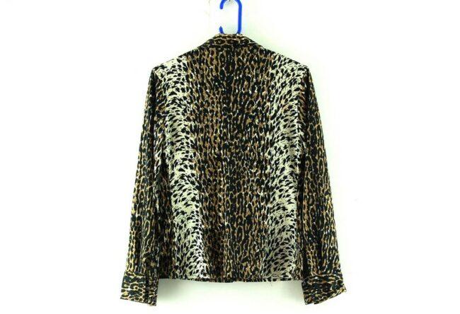 70s Leopard Print Blouse