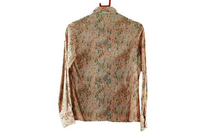 Back of 70s Crowd Print Blouse