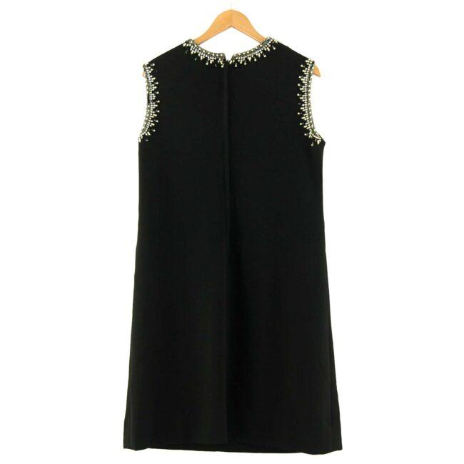 Back of 1960s Black Diamonte Shift Dress