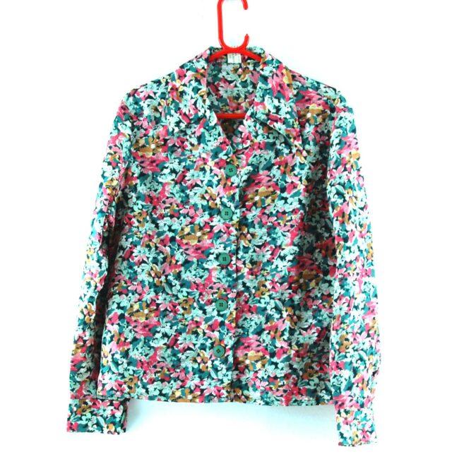 Floral Dagger Collar Shirt
