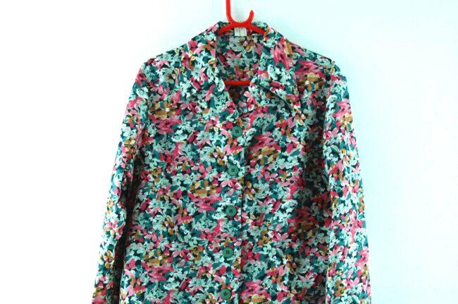 Close up of Floral Dagger Collar Shirt