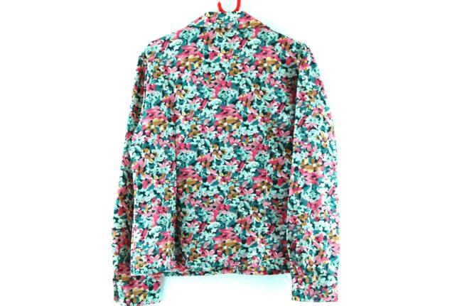 Back of Floral Dagger Collar Shirt