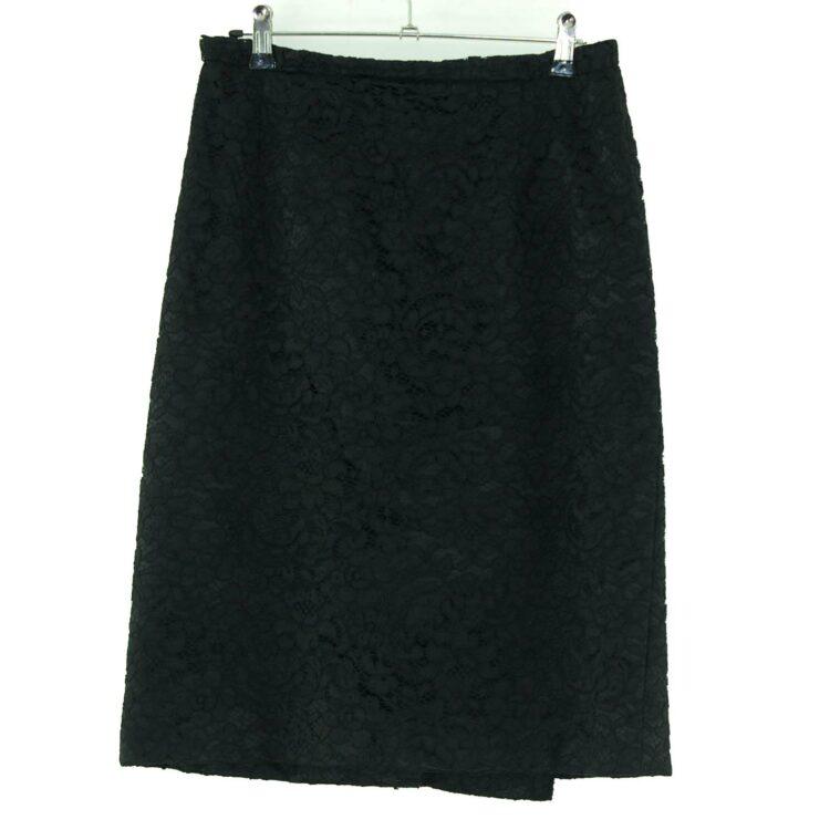 Black Lace 60s Pencil Skirt