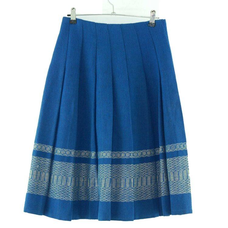 60s Blue Wool Skirt