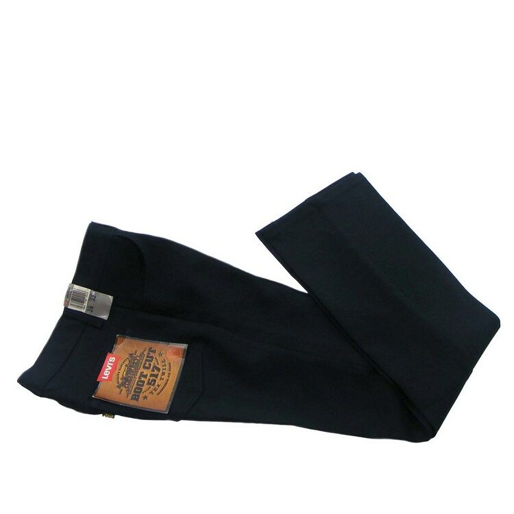 70s Bootcut Deadstock 517 Black Levis Trousers