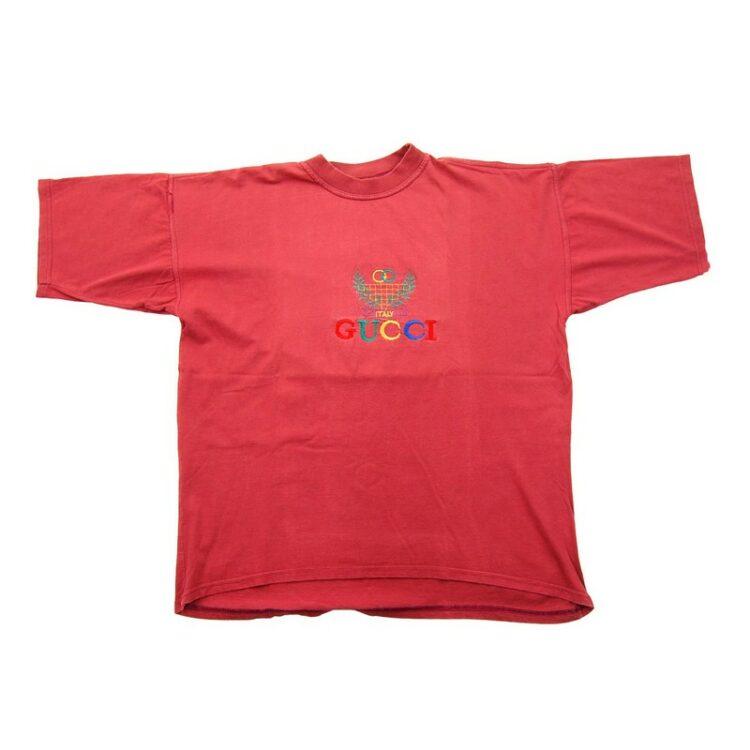 Red Gucci Print T Shirt