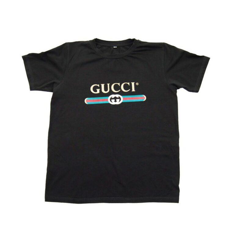 Black Gucci Logo T Shirt