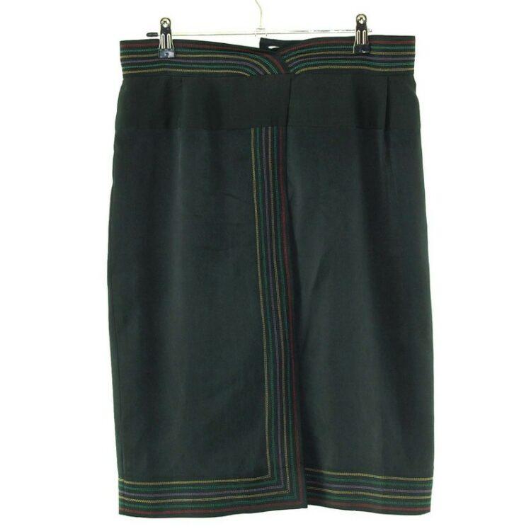 Unusual Black Silk Skirt