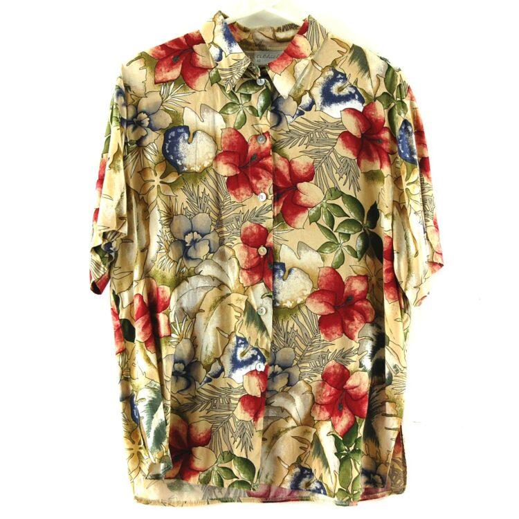 90s Hawaiian Flowers Blouse
