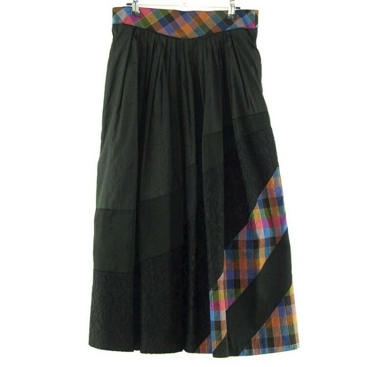 Long Dirndl Skirt Black