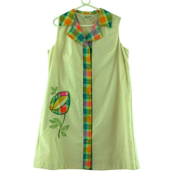 70s Floral Applique Dress