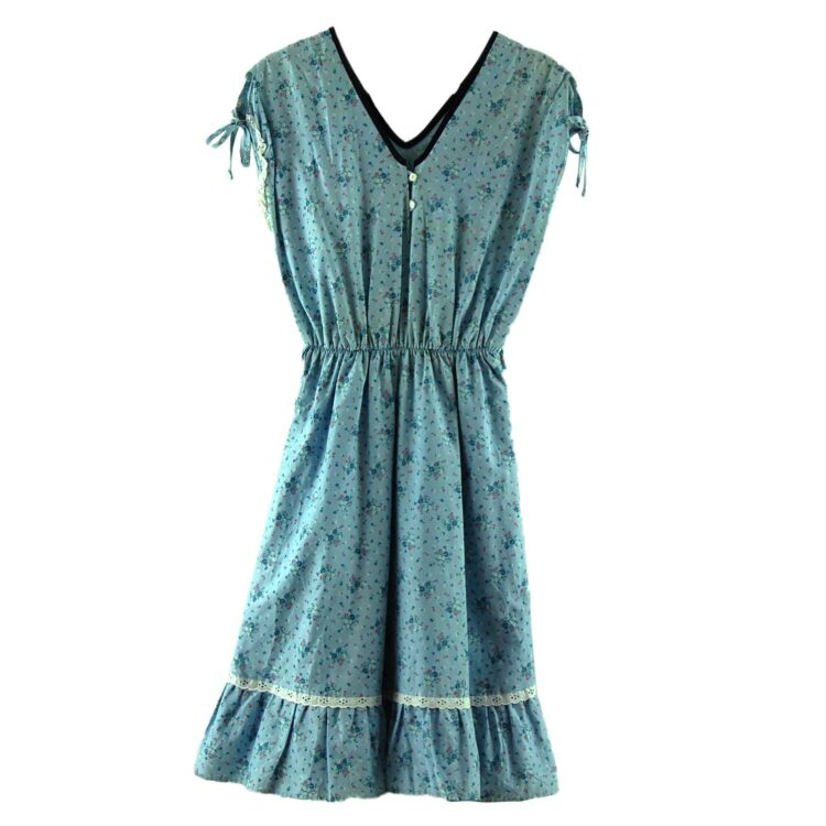 Light Blue 70s Floral Dress