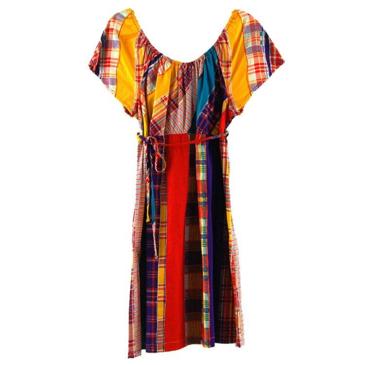 70s Patchwork Print Dress