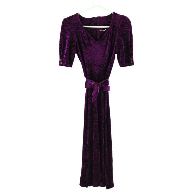 Purple 70s Velvet Dress