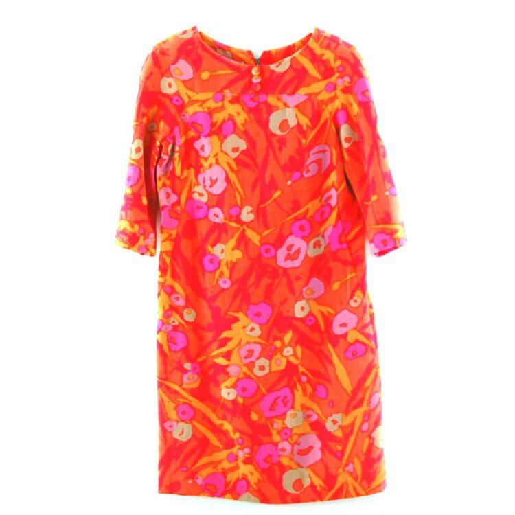 Wool Floral 70s Print Dress