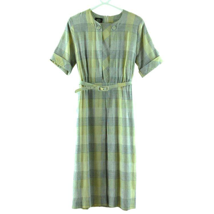 70s Checkered Print Dress